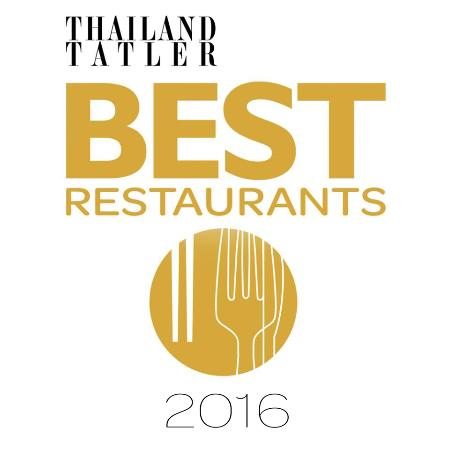Thailand Tatler Best Restaurants 2016