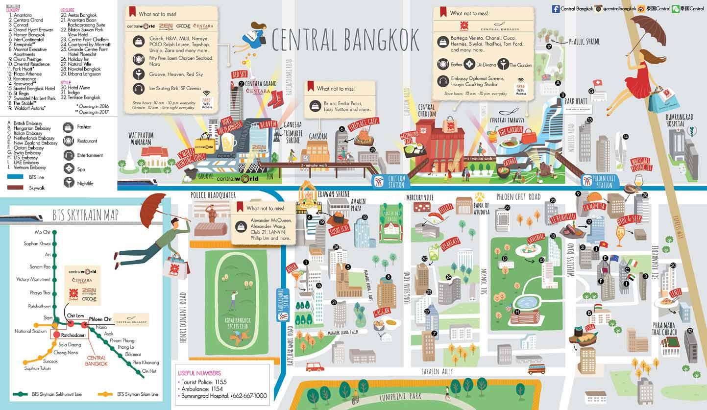 The Best Shopping Malls In Bangkok Markets In Thailand - Us embassy bangkok map